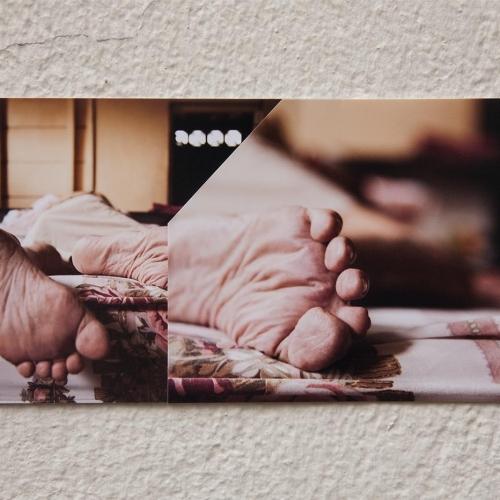 """""""José # 5"""" de la serie """"José"""" / Técnica: fotografía digital y collage / Dimensiones de la obra: 24 x 10 cm. / El fondo no hace parte de la obra."""