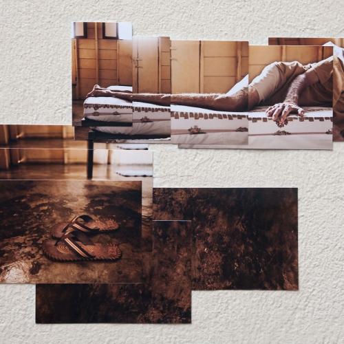 """""""José # 2"""" de la serie """"José"""" / Técnica: fotografía digital y collage / Dimensiones de la obra: 48 x 29 cm. / El fondo no hace parte de la obra."""