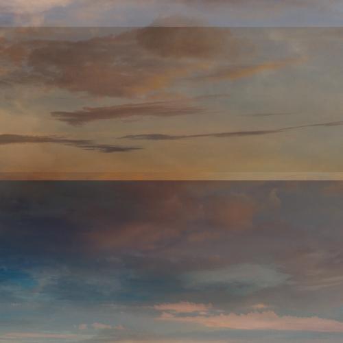 """""""17 trazos de lo que pudo ser un paisaje # 4"""" de la serie """"17 trazos de lo que pudo ser un paisaje"""" / Técnica: fotografía análoga, fotografía digital y composición-pintura digital / Dimensiones de la obra: 100 x 65 cm."""