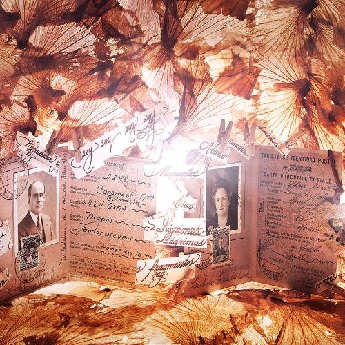 """""""3000 días # 2"""" de la serie """"3000 días"""" / Técnica: pintura, escultura, collage y fotografía digital / Dirección de arte: Silvia Ochoa y Natalia Behaine / Diseño de maquetas: Natalia Behaine / Post-producción: Óscar Barrera / Dimensiones de la obra: cm."""