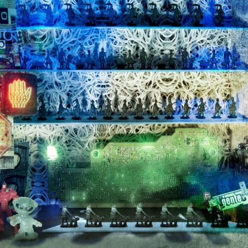 """""""3000 días # 4"""" de la serie """"3000 días"""" / Técnica: pintura, escultura, collage y fotografía digital / Dirección de arte: Silvia Ochoa y Natalia Behaine / Diseño de maquetas: Natalia Behaine / Post-producción: Óscar Barrera / Dimensiones de la obra: cm."""